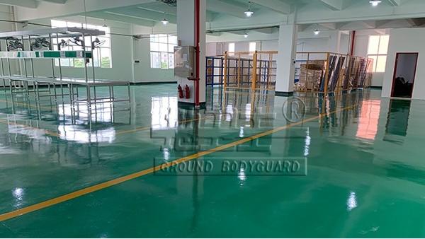 广东七杰热能科技有限公司选用地卫士滚面耐压型环氧地坪