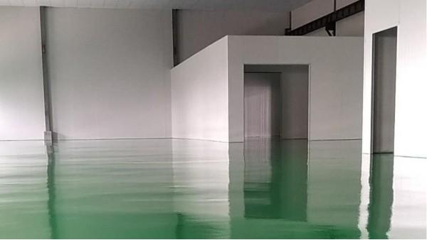 中山迈庆隆塑胶科技有限公司选用地卫士环氧地坪漆工程