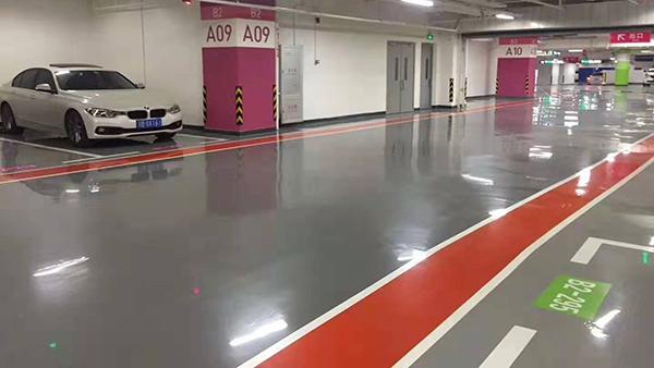 停车场车库自流平镘面型环氧地坪