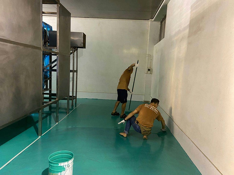 高耐磨地坪漆施工