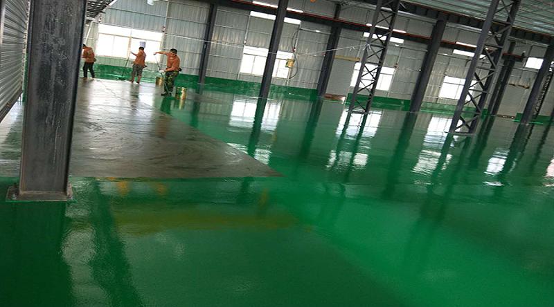 耐磨经济型环氧地坪漆施工