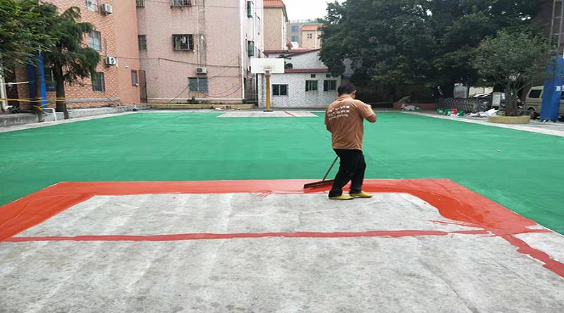 球场地坪施工,篮球场地坪