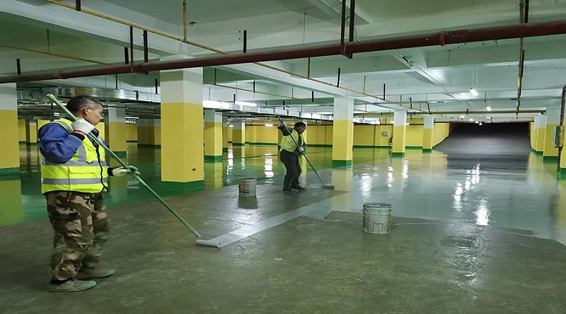 停车场地坪漆施工