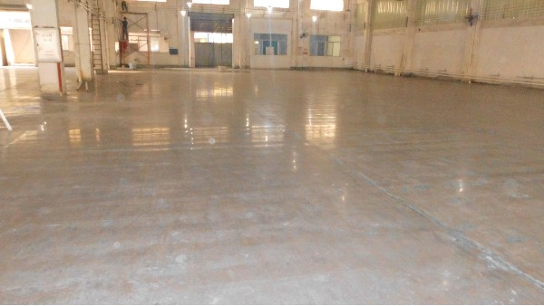中山市朗浩五金电器有限公司选用地卫士混凝土固化剂地坪工程