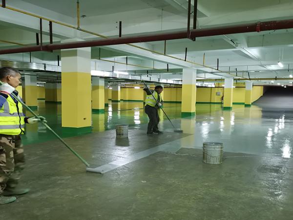 地卫士地坪承包的地下车库地坪漆工程报价清晰明了!